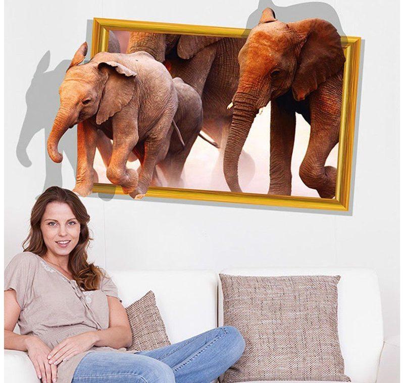 Elefanti La Plimbare 3d