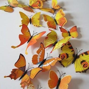 Fluturi 3d Decorativi De Perete