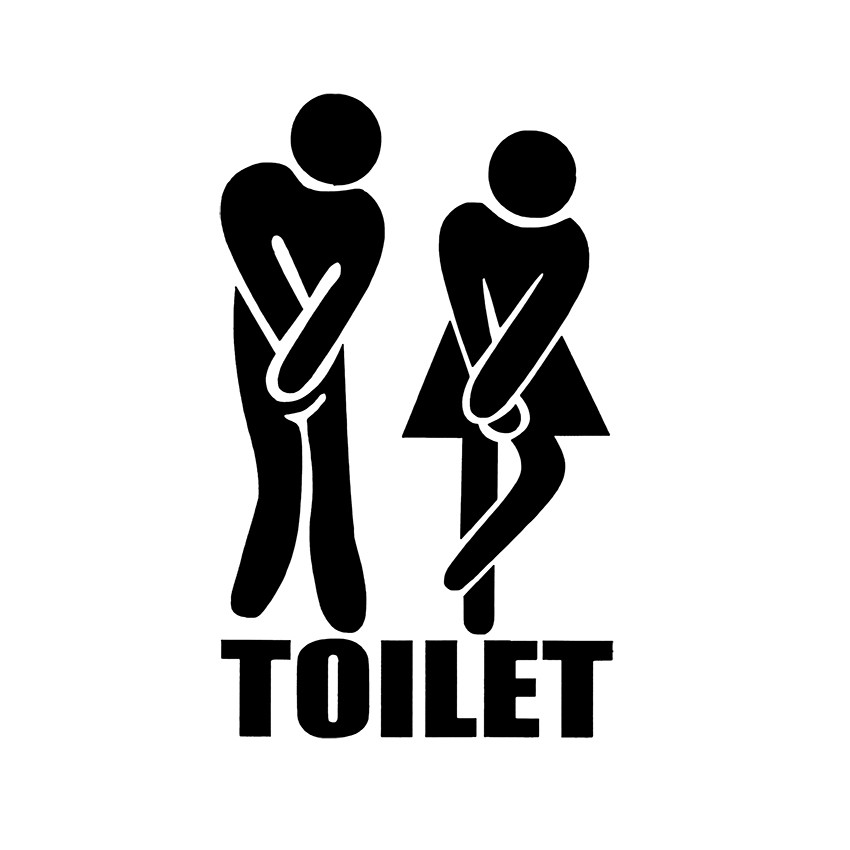 Sticker Atentie Toaleta