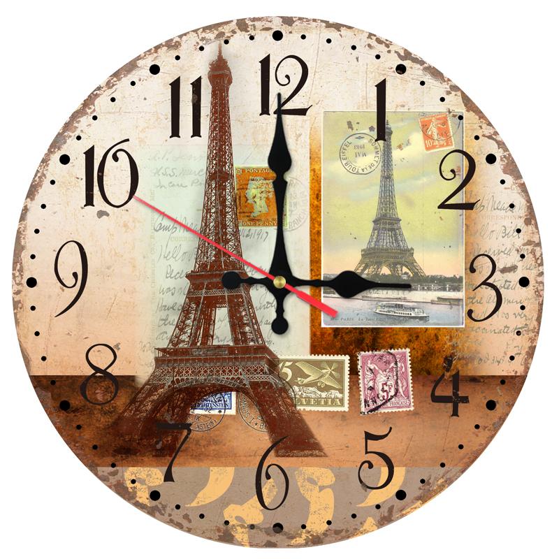 Ceas De Perete Din Lemn Parisul Vesel