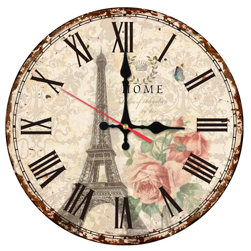 Ceas De Perete Din Lemn Parisul Clasic