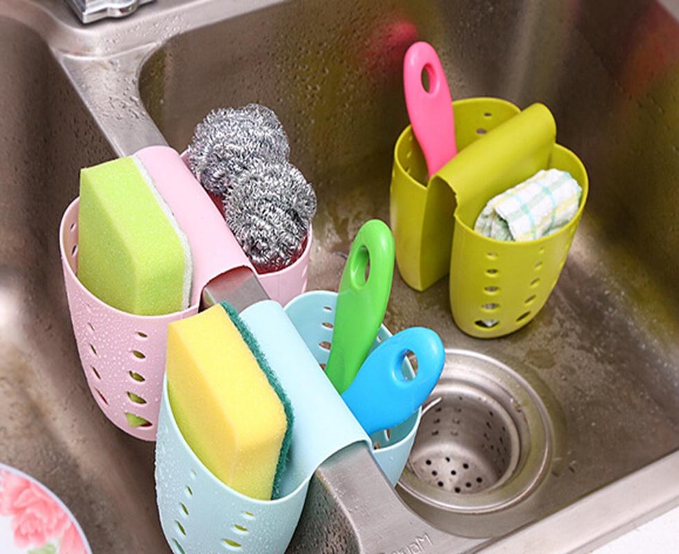 Suport Dublu Chiuveta Bucatarie - Burete Si Detergent